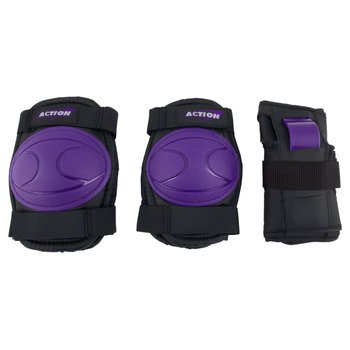 Skate Knee, Elbow And Wrist Pads Purple Medium