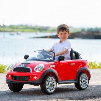 Red Mini Cooper 6v Ride On With Remote Control