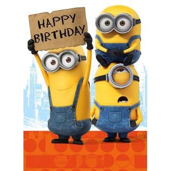 Minion Happy Birthday Card