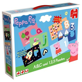 Peppa Pig A,B,C and 1,2,3 Puzzles