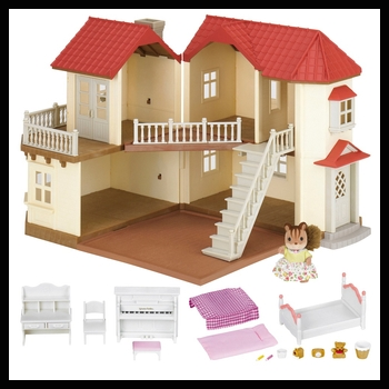Sylvanian Families Beechwood Hall Gift Set with 1 figure and 15 accessories!