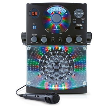 Singing Machine Bluetooth Karaoke System With LED Disco Lights and Microphone Black