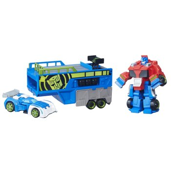Transformers: Rescue Bots Optimus Prime Racing Trailor