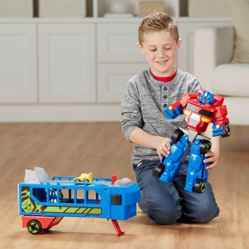 Transformers Rescue Bots Flip Racers Race Track Trailer Playset