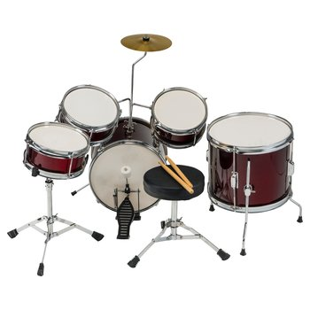 7 Piece Drum Kit - Wooden Drum Kit