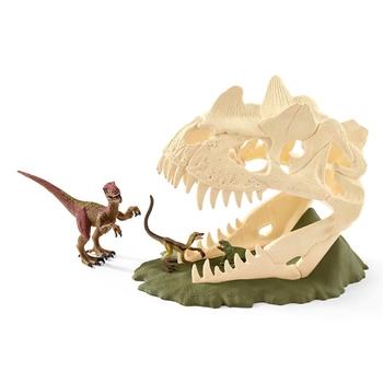 Schleich Dinosaurs: Dino Large Skull Trap & Velociraptor