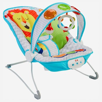 Fisher-price Rainforest New-born Baby Bouncer/rocker/chair With Vibration+toybar Baby