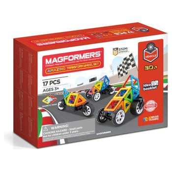 175728: Magformers Amazing Transform Wheel 17 Piece Magnetic Set