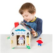 Melissa Doug Wooden Doorbell House Educational Toys
