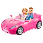 New Barbie Dress Up and Go Closet and Convertible Car with 2 Dolls Playset Toy