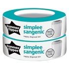 Sangenic Simplee 2er Pack Nachfüllkassetten für Windeleimer