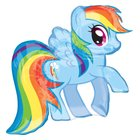 My Little Pony - Folienballon Super Shape, Rainbow Dash