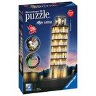Ravensburger - 3D Puzzle: Schiefer Turm von Pisa bei Nacht, 216 Teile
