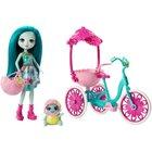 Enchantimals - Puppe und Zubehör, Taylee Turtle Puppe und Fahrrad (FCC65)