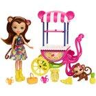 Enchantimals - Puppe und Zubehör, Merit Monkey Puppe und Obst-Stand (FCG93)