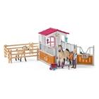 Schleich - 42369 Pferdebox mit Arabern und Pferdepflegerin