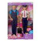 Barbie - Pink Passport: Barbie und Ken Pilotenset