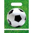 Procos - 6 Fußball Partytüten, grün