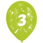 Riethmüller - Latexballons, Zahl 3, 8 Stk.