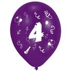 Riethmüller - Latexballons, Zahl 4, 8 Stk.