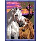 Ravensburger - Malen nach Zahlen: Pferde im Sonnenuntergang