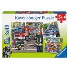 Ravensburger - Puzzle: Helfer in der Not, 3x49 Teile