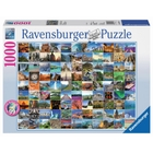 Ravensburger - Puzzle: 99 Beautiful Places on Earth, 1000 Teile