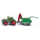 SIKU Farmer - 1675: Traktor mit Holzhäcksler