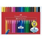 Faber-Castell - Fasermaler: Grip Colour Marker, 20er Etui, farbig sortiert