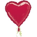 Riethmüller - Folienballon Uni, Herz, Rot