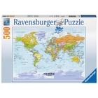 Ravensburger - Puzzle: Politische Weltkarte, 500 Teile