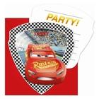 Disney Cars - 6 Einladungskarten