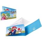 Super Mario - 8 Einladungskarten