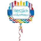 Amscan - Folienballon Super Shape, Herzlich Willkommen
