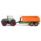 SIKU Farmer - 1989: Fendt Traktor mit Hakenliftfahrgestell und Mulde