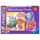 Ravensburger - Puzzle: Paw Patrol, Bezaubernde Hundemädchen, 3x49 Teile