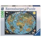 Ravensburger - Puzzle: Kunterbunte Erde, 1500 Teile
