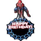Spider-Man: SuperShape XL Folienballon, Happy Birthday, personalisierbar