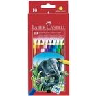 Faber-Castell - Jumbo-Farbstifte in Sechskantform, 10 Farben im Kartonetui