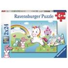 Ravensburger - Puzzle: Märchenhaftes Einhorn, 2x24 Teile