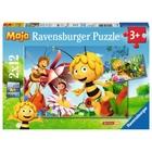Ravensburger - Puzzle: Biene Maja, Auf der Blumenwiese, 2x12 Teile