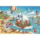 Ravensburger - Puzzle: Urlaub am Meer, 2x24 Teile